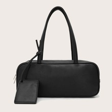 Minimalist Shoulder Bag With Card Holder