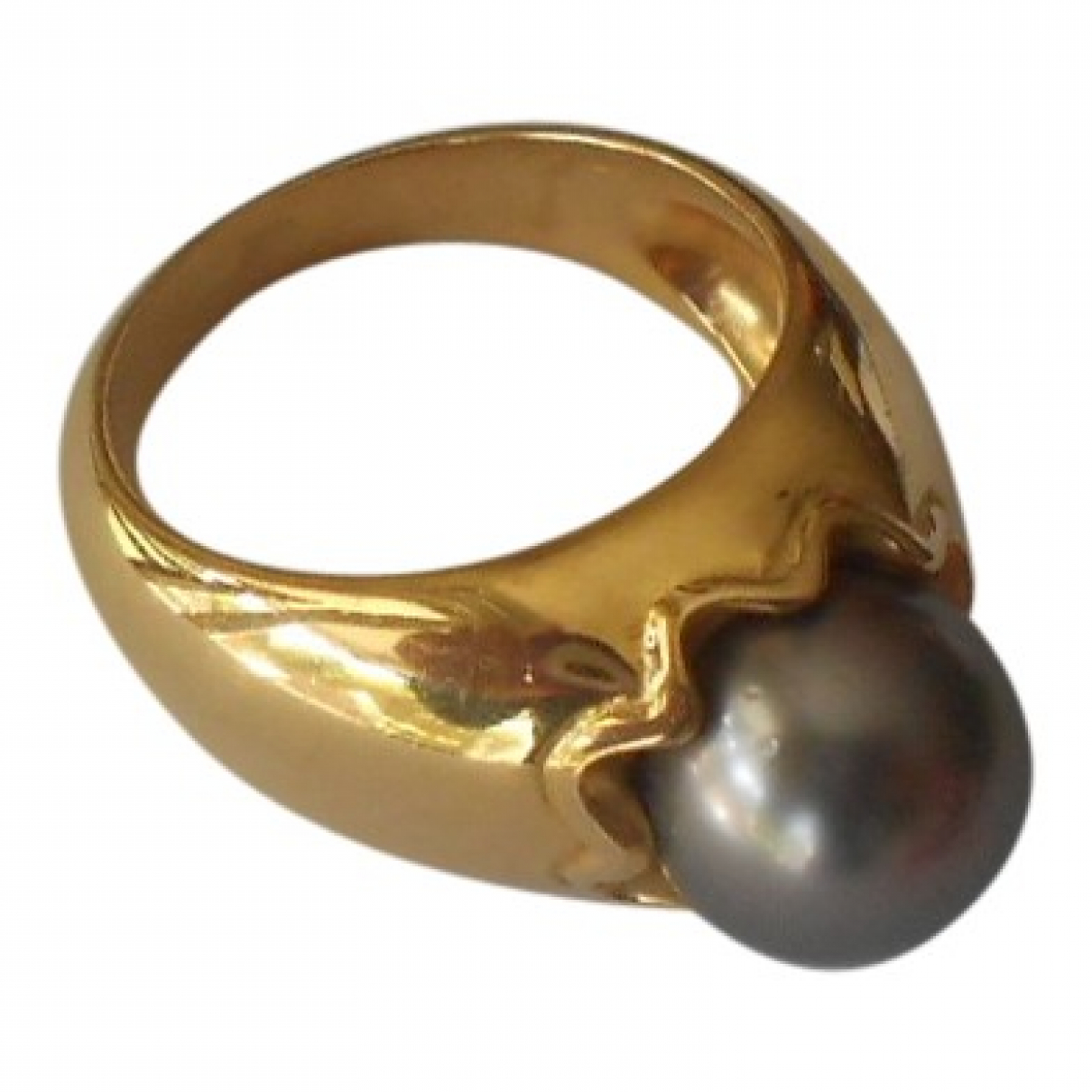 Non Signe / Unsigned \N Ring in  Grau Gelbgold