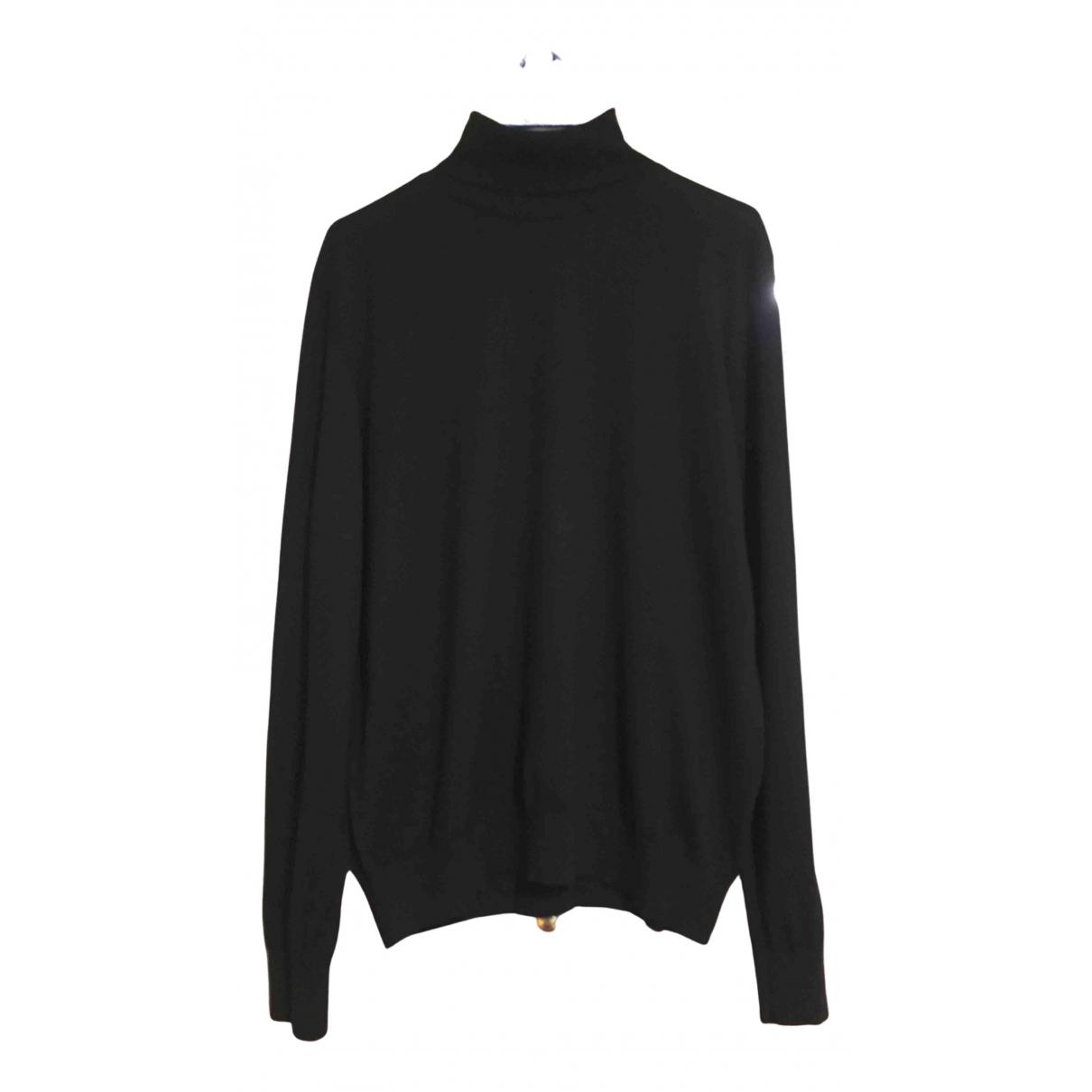Z Zegna \N Pullover.Westen.Sweatshirts  in  Schwarz Wolle