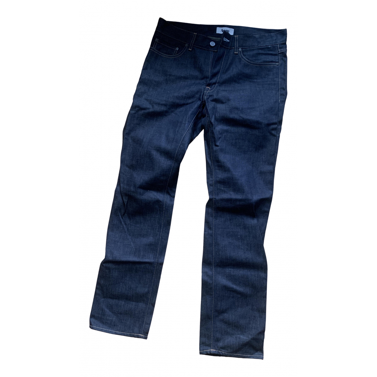 Acne Studios N Blue Cotton Jeans for Men 32 US
