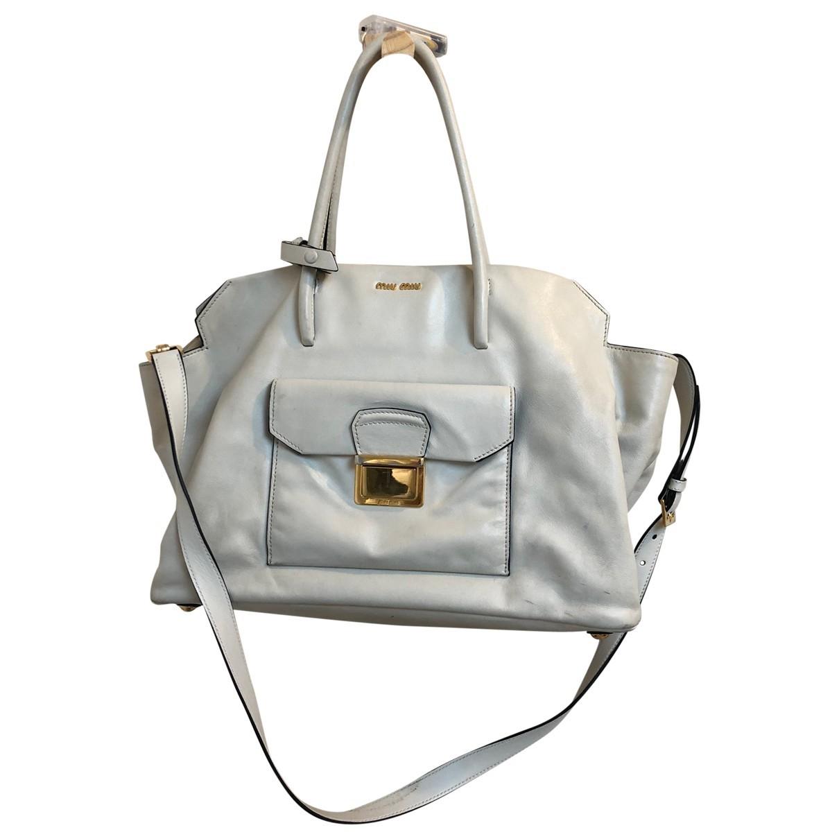 Miu Miu Bow bag Handtasche in  Weiss Leder