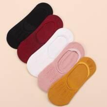 5 Paare einfache Socken