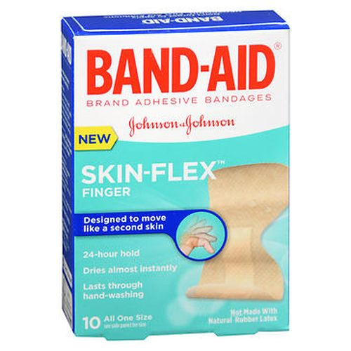 BandAid SkinFlex Bandages Finger 10 Each by Aveeno
