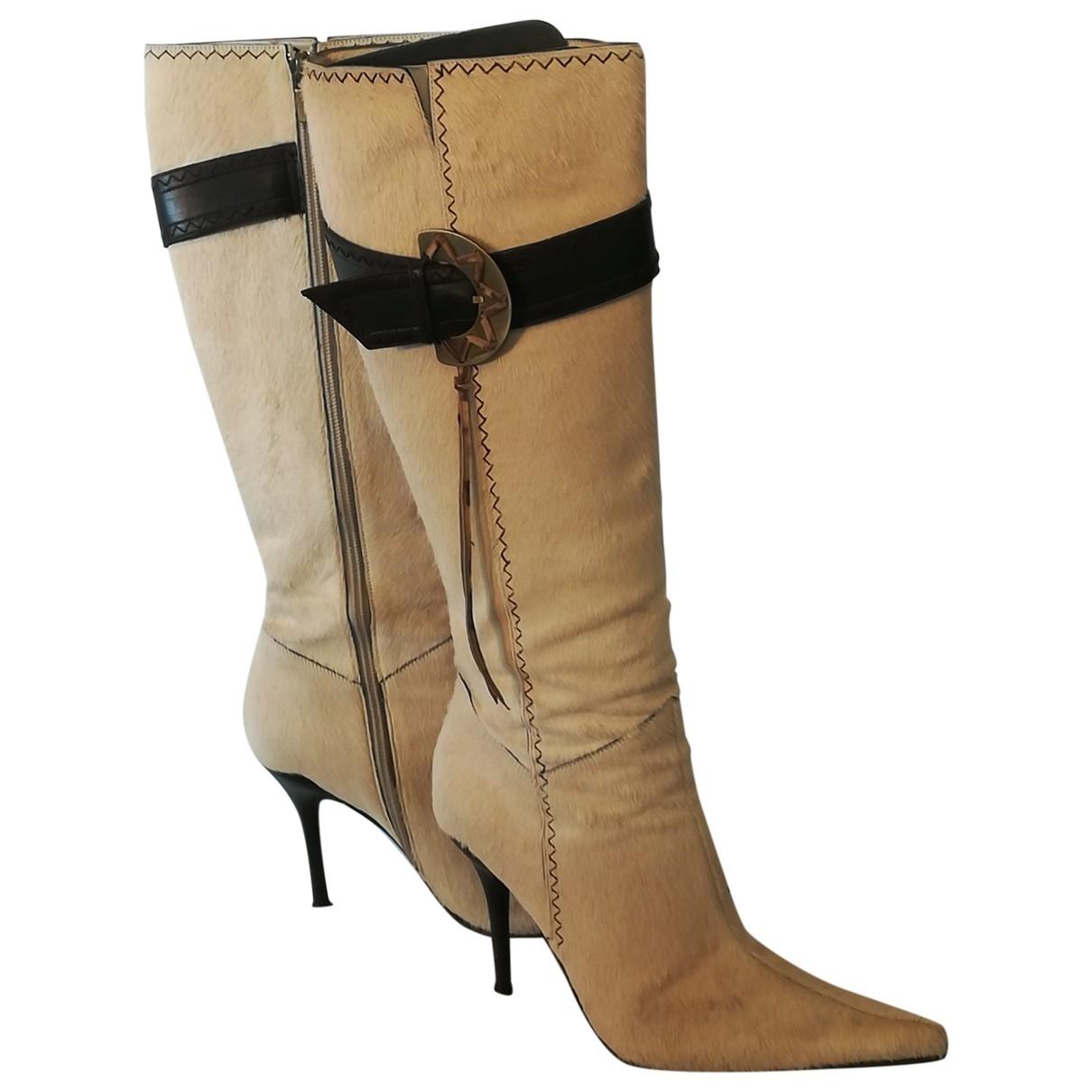 Casadei - Boots   pour femme en veau facon poulain