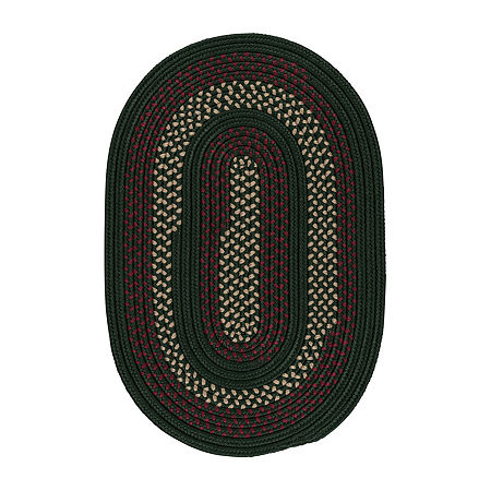 Colonial Mills Township Braided Oval Reversible Indoor/Outdoor Rugs, One Size , Green