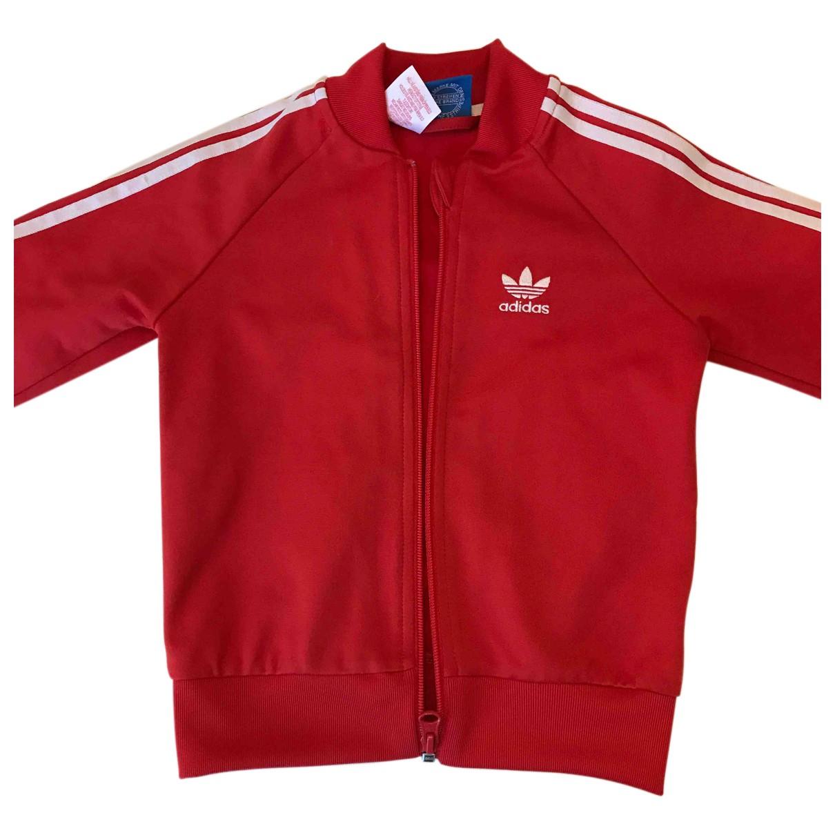 Adidas \N Jacke, Maentel in  Rot Polyester