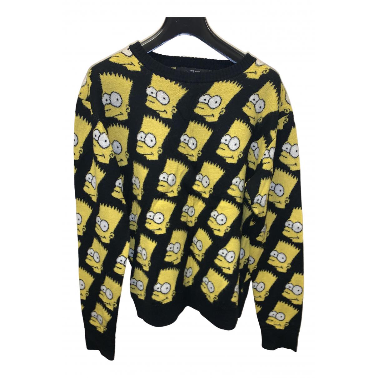 Jeremy Scott N Black Cotton Knitwear & Sweatshirts for Men M International