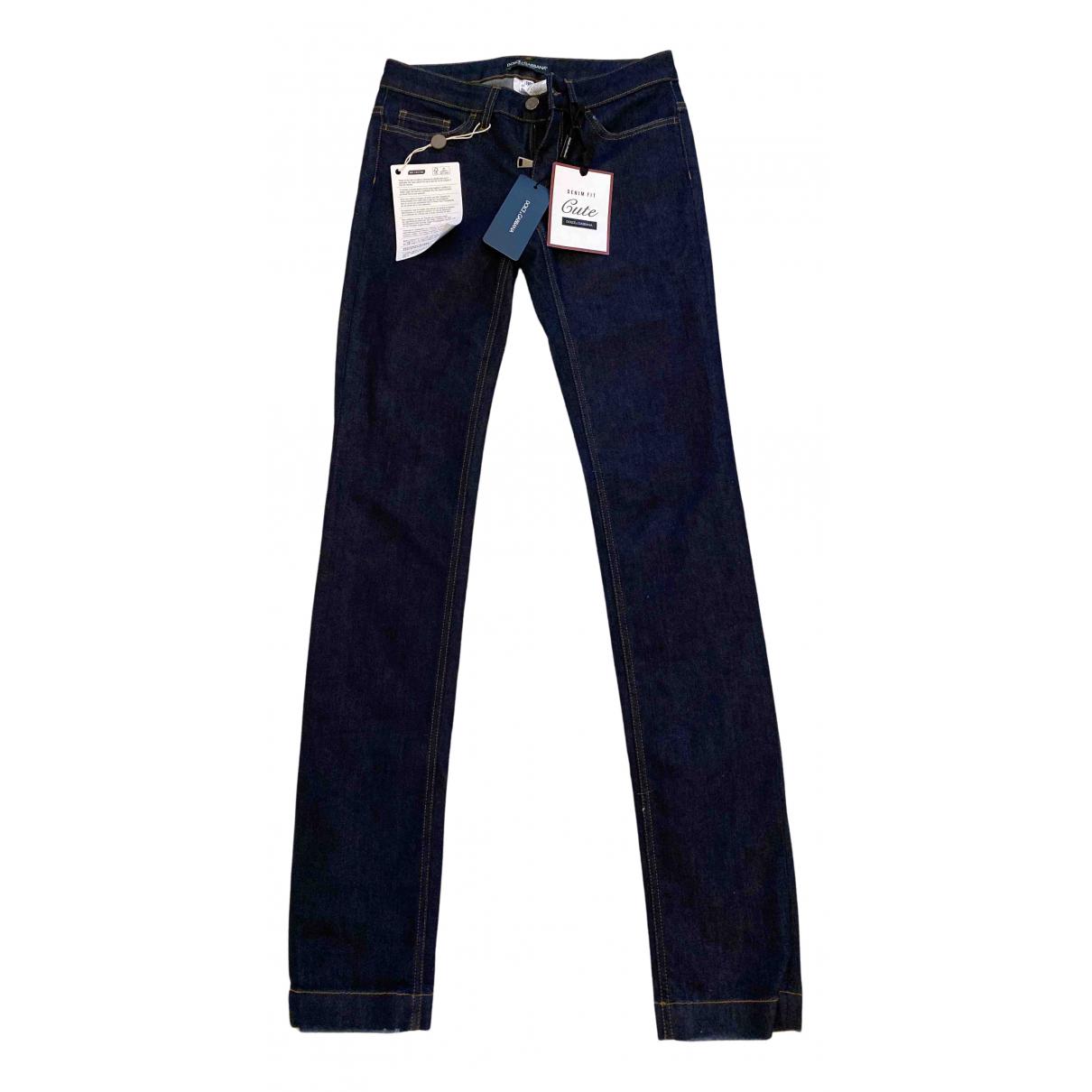 Dolce & Gabbana N Navy Cotton - elasthane Jeans for Women 32 FR