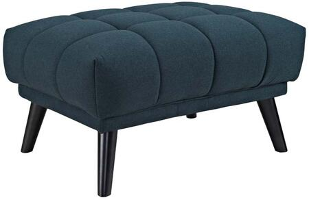 Bestow Collection EEI-2734-BLU 31 Ottoman with Black Splayed Tapered Legs  Non-Marking Foot Caps  Dense Foam Padding and Soft Polyester Upholstery
