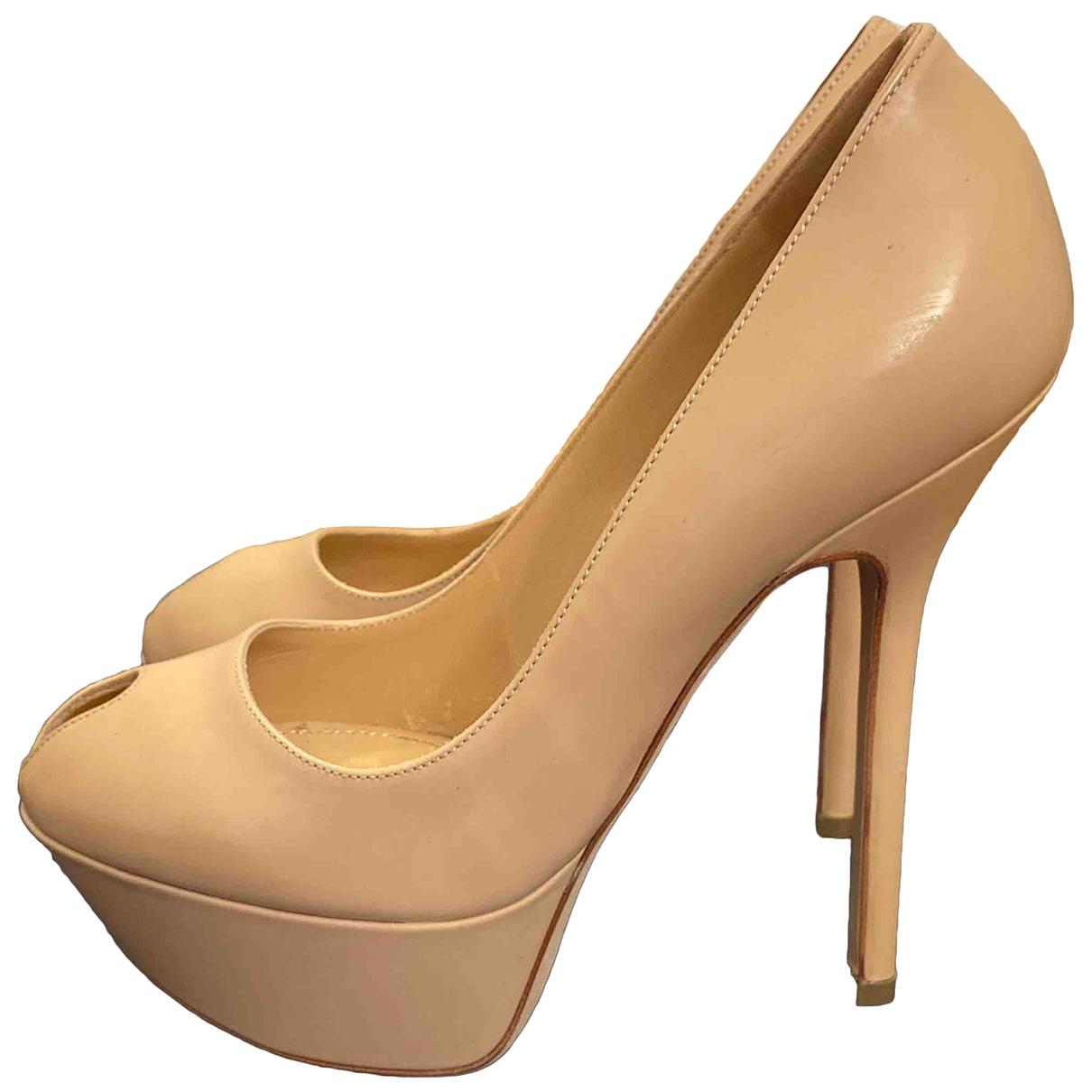 Sergio Rossi \N Beige Leather Heels for Women 34 EU
