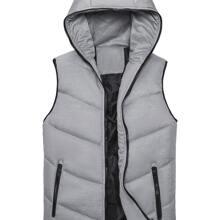 Guys Zip-up Hooded Padded Vest