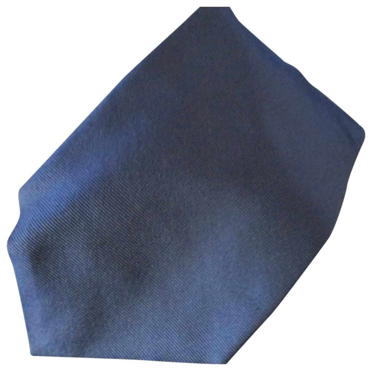 Tommy Hilfiger - Cravates   pour homme en soie - bleu