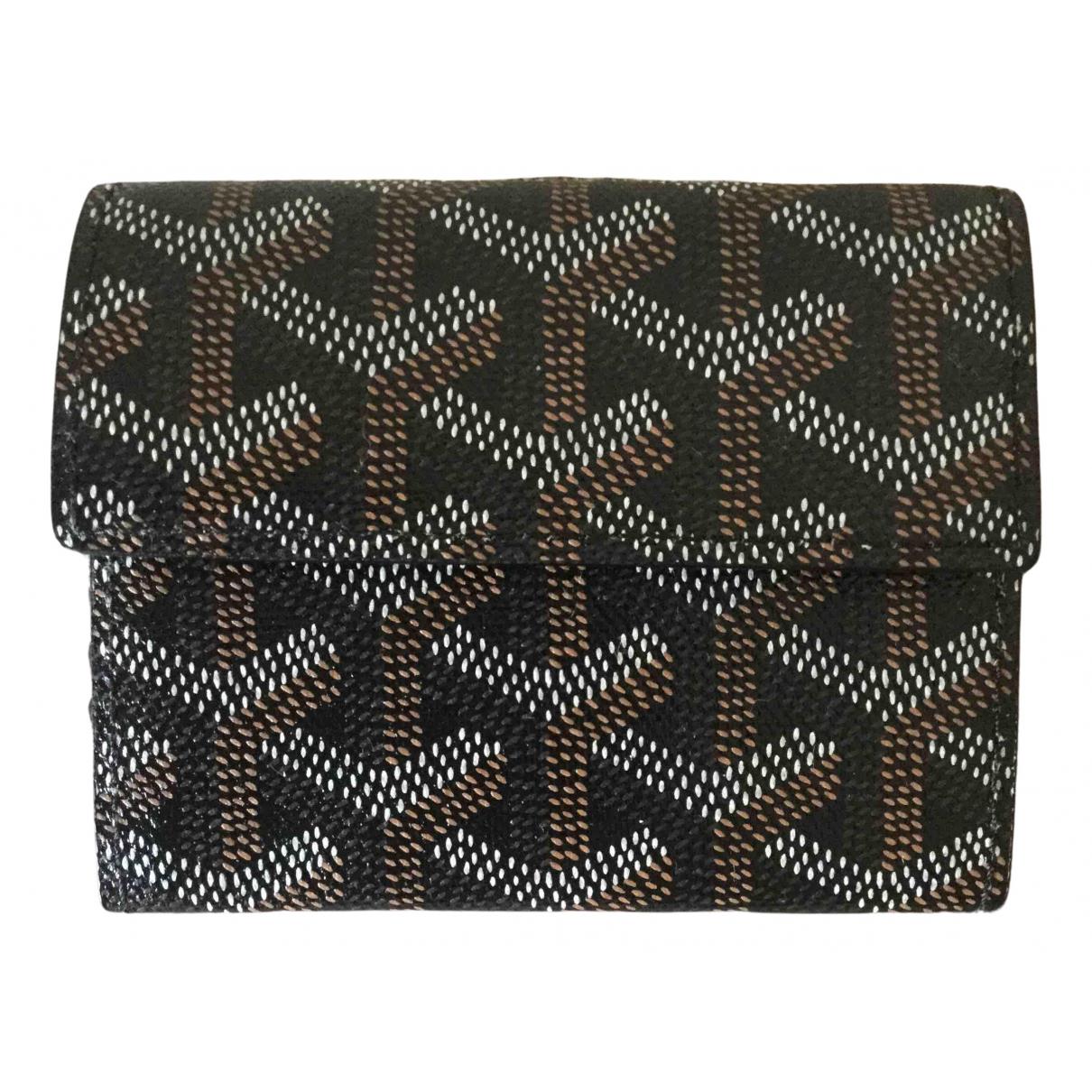 Goyard - Petite maroquinerie   pour femme en toile - noir