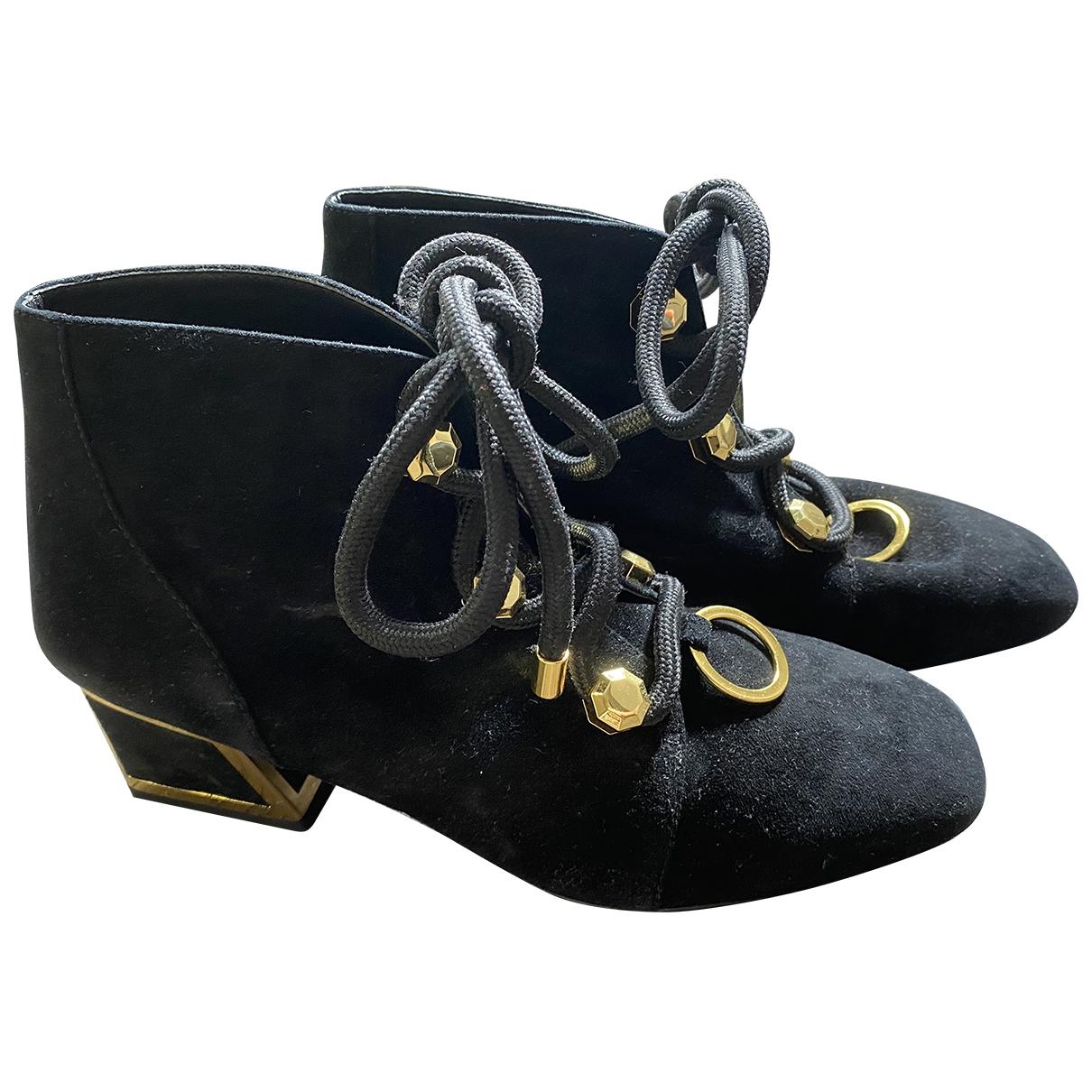 Kat Maconie \N Black Suede Ankle boots for Women 39 EU