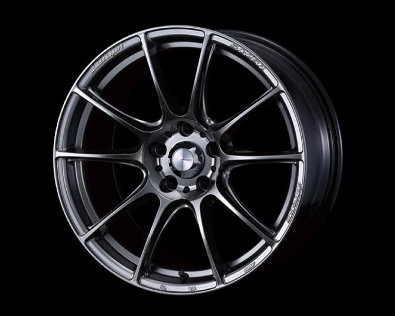 Weds SA-25R Wheel WedsSport 18x7.5 5x100 45mm Platinum Silver Black