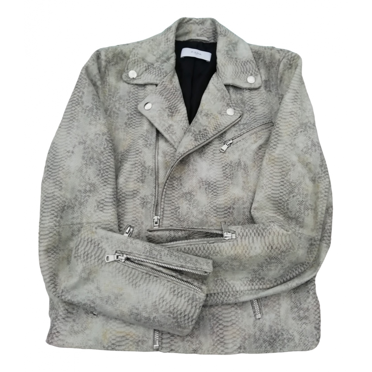Zapa - Veste   pour femme en cuir - gris
