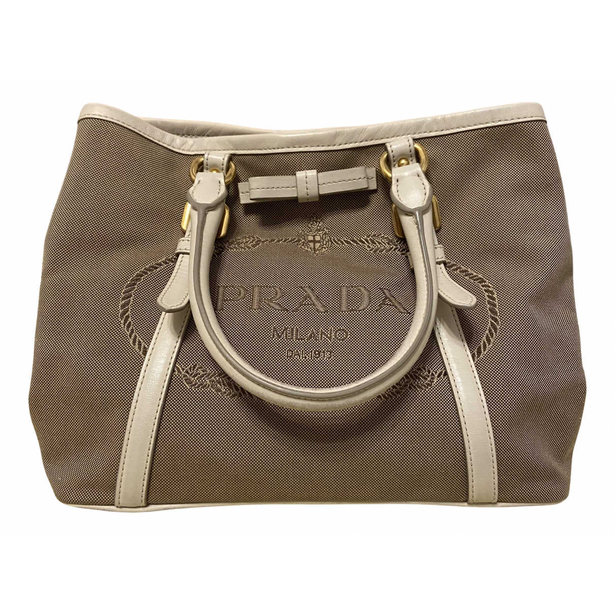 Prada \N Handtasche in  Khaki Baumwolle