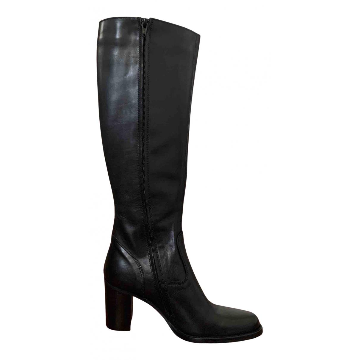 Ann Tuil - Bottes   pour femme en cuir - noir