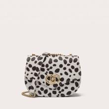 Dalmatian Print Saddle Bag