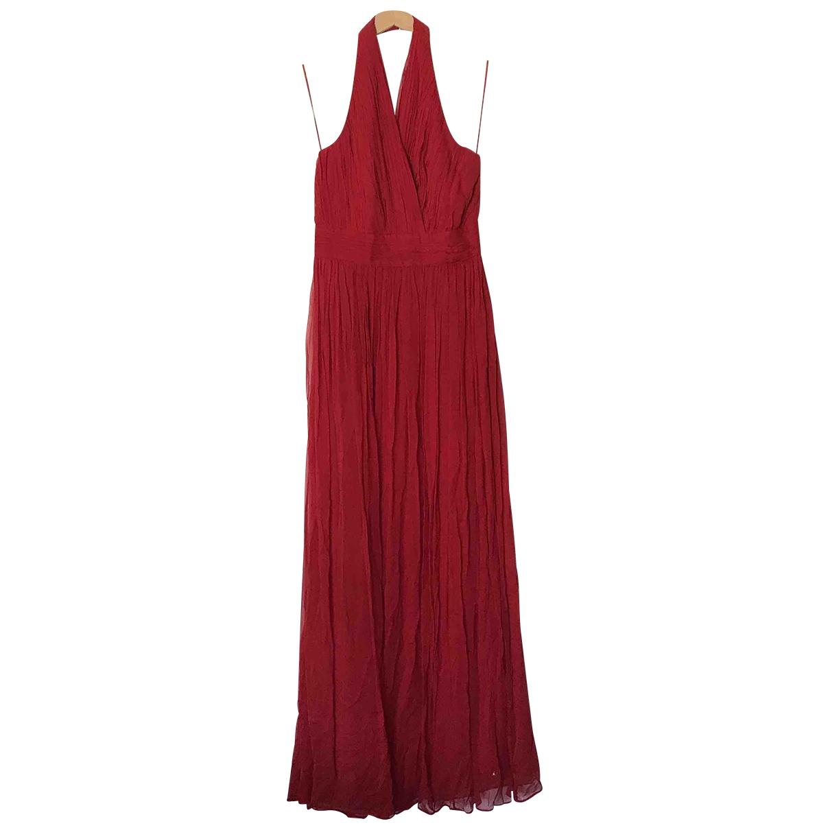 Mango \N Red Silk dress for Women 38 FR
