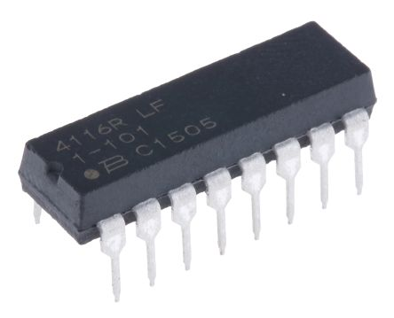 Bourns Isolated Resistor Array 100Ω ±2% 8 Resistors, 2.25W Total, DIP package 4100R Through Hole (25)