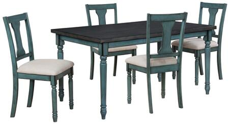 16D8214PC5 Willow 5pc Dining Set with 4x Dining Room Chair + 1x Dining Room Table in
