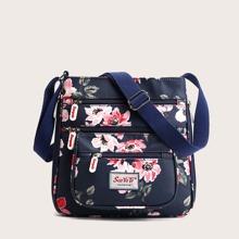 Floral Pattern Crossbody Bag