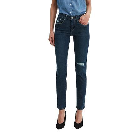 Levi's Classic Mid Rise Skinny Jean, 6 , Blue