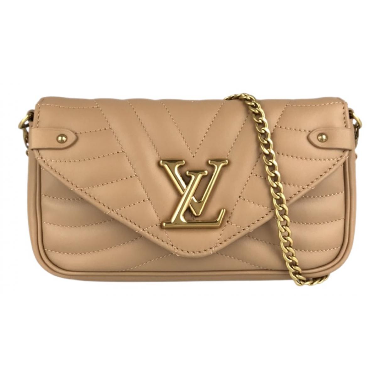 Louis Vuitton - Sac a main New Wave pour femme en cuir - beige