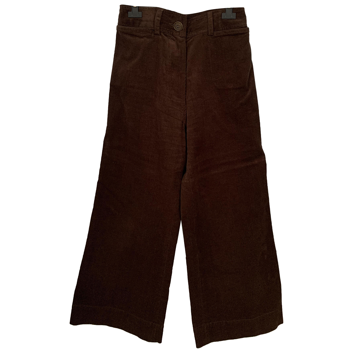 Nathalie Dumeix N Brown Cotton Trousers for Women 40 FR