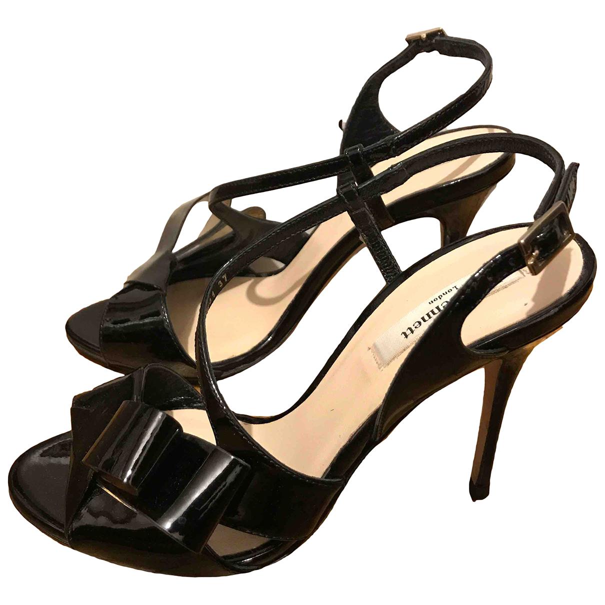 Lk Bennett - Escarpins   pour femme en cuir verni - noir