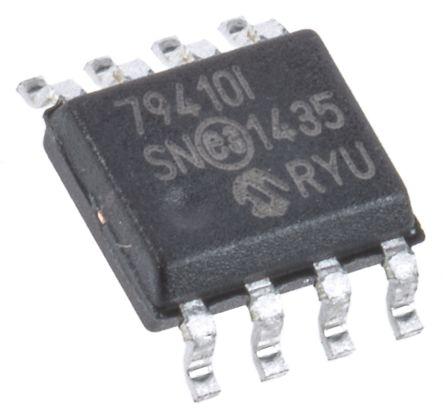 Microchip MCP79410-I/SN, Real Time Clock (RTC), 64B RAM Serial-I2C, 8-Pin SOIC (5)