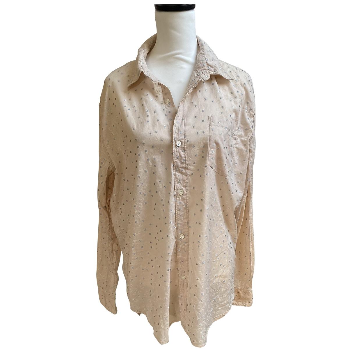 Non Signé / Unsigned \N Ecru Cotton  top for Women L International