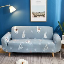 Cartoon Alpaca Print Sofa Cover Without Cushion