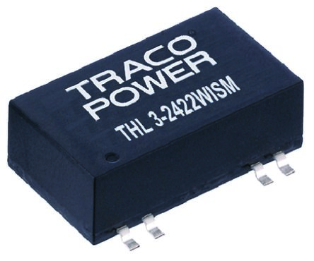 TRACOPOWER THL 3WISM 3W Isolated DC-DC Converter Surface Mount, Voltage in 18 → 75 V dc, Voltage out 5V dc