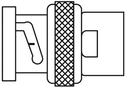TE Connectivity Straight 50Ω Cable Mount BNC Connector, Plug, Nickel, Solder Termination, RG165, RG213, RG214, RG215,