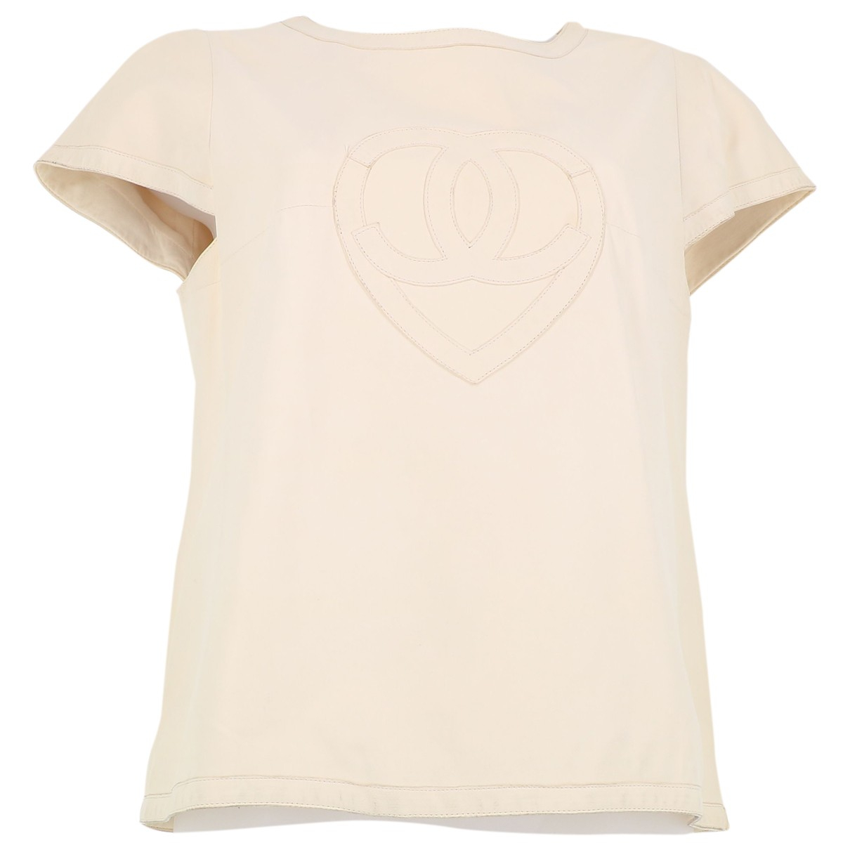 Chanel \N Beige Leather  top for Women L