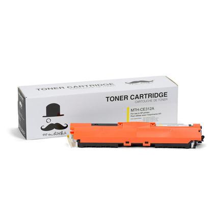 Compatible HP LaserJet Pro CP1025NW Yellow Toner Cartridge - Moustache