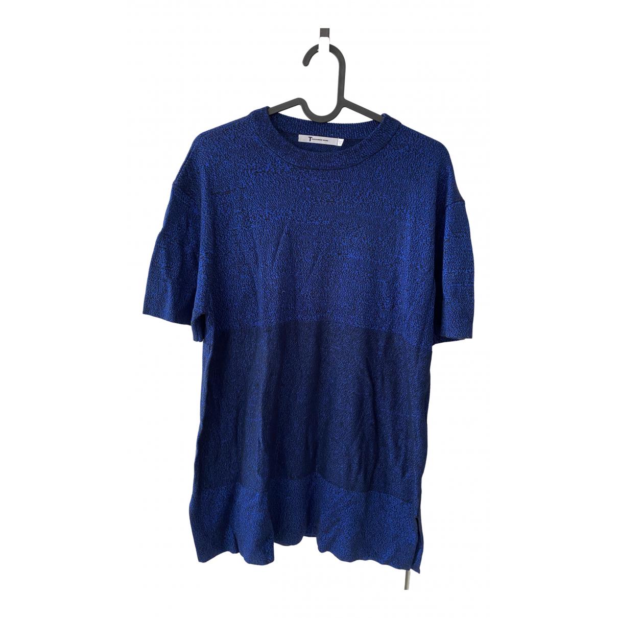 T By Alexander Wang - Pull   pour femme en coton - bleu