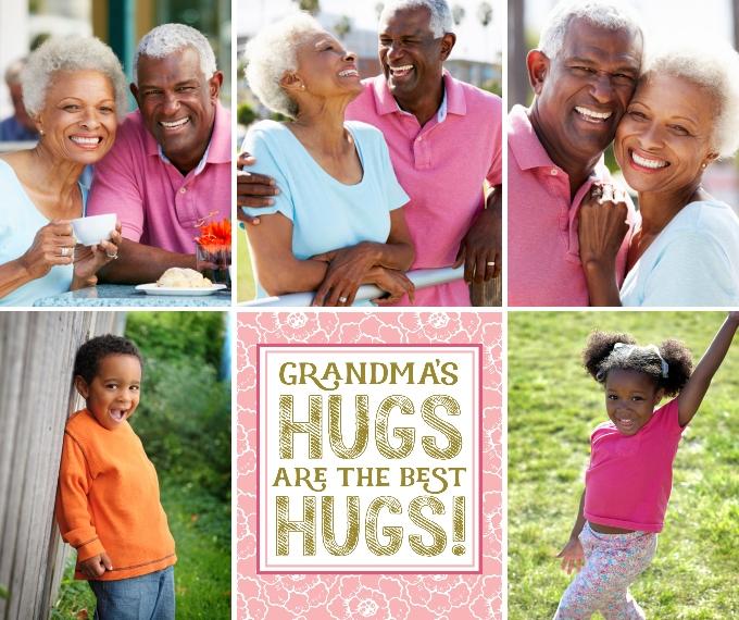 Family + Friends Fleece Blanket, 50x60, Gift -Grandma Hugs