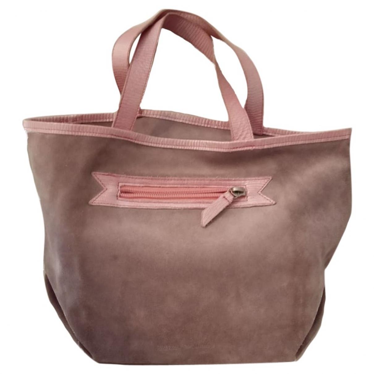 Emporio Armani \N Handtasche in  Grau Veloursleder