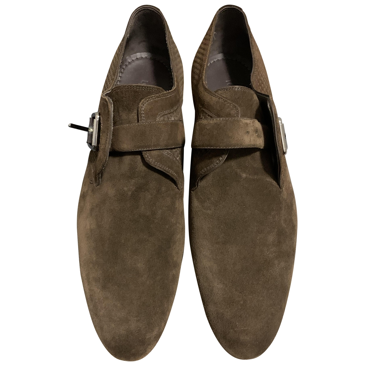Louis Vuitton \N Brown Suede Lace ups for Men 43 EU