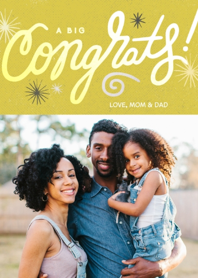 Congratulations Mail-for-Me Premium 5x7 Folded Card , Card & Stationery -A Big Congrats