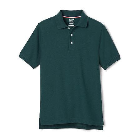 French Toast Big Boys Short Sleeve Polo Shirt, 12 Husky , Green