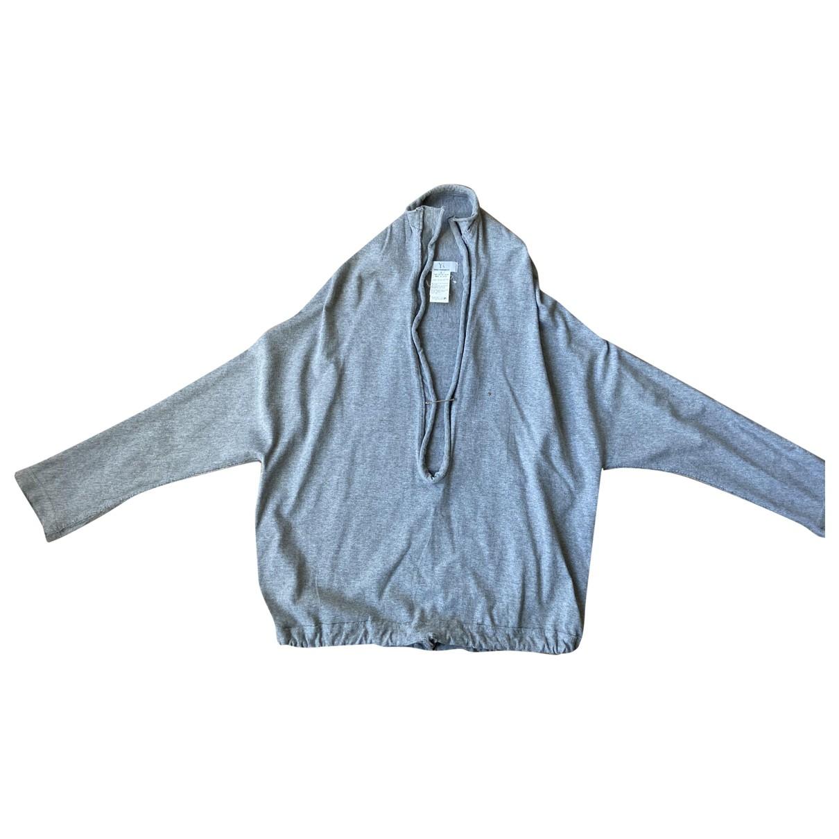 Yohji Yamamoto - Pull   pour femme en coton - gris