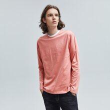 Camiseta de cuello redondo unicolor