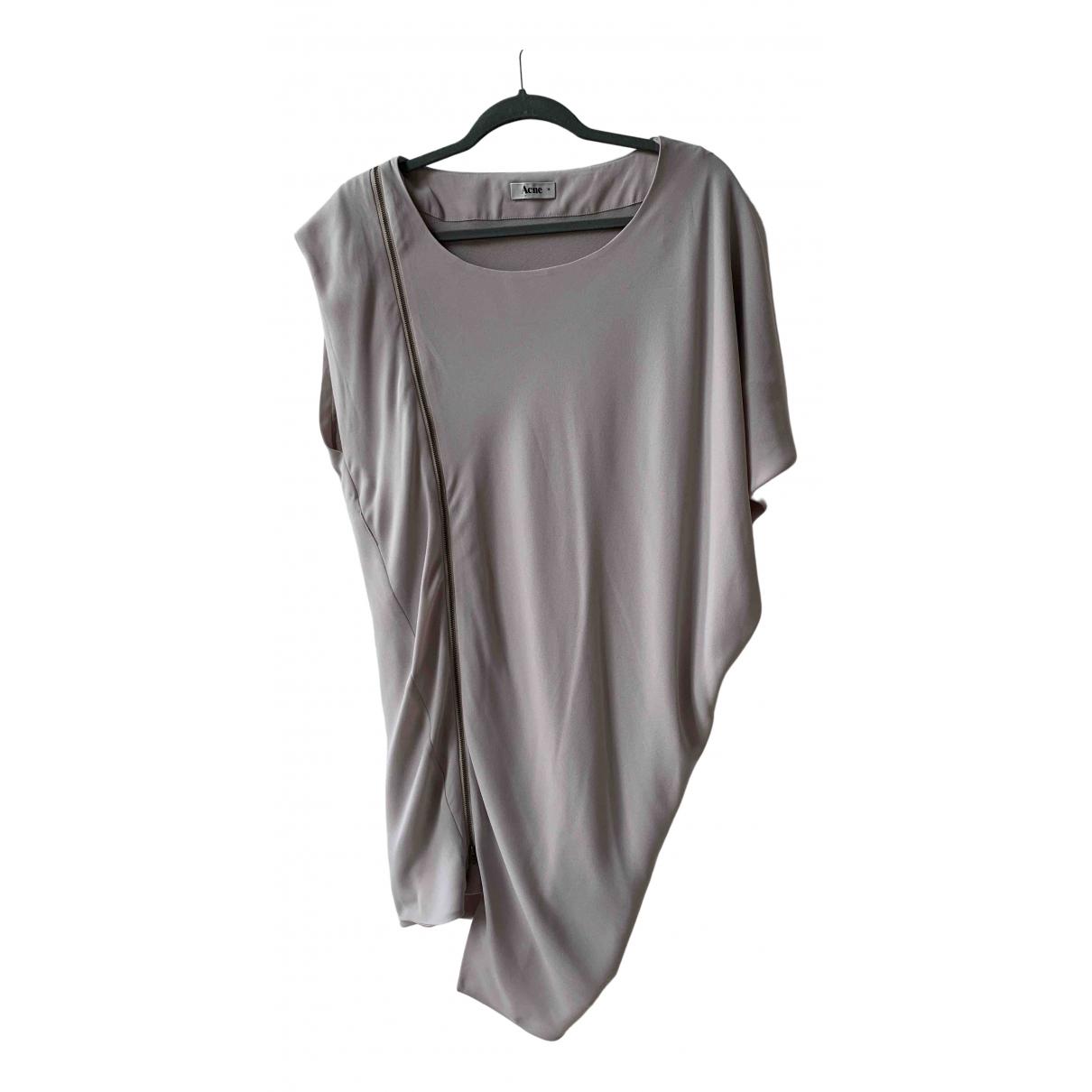 Acne Studios \N Kleid in  Grau Polyester