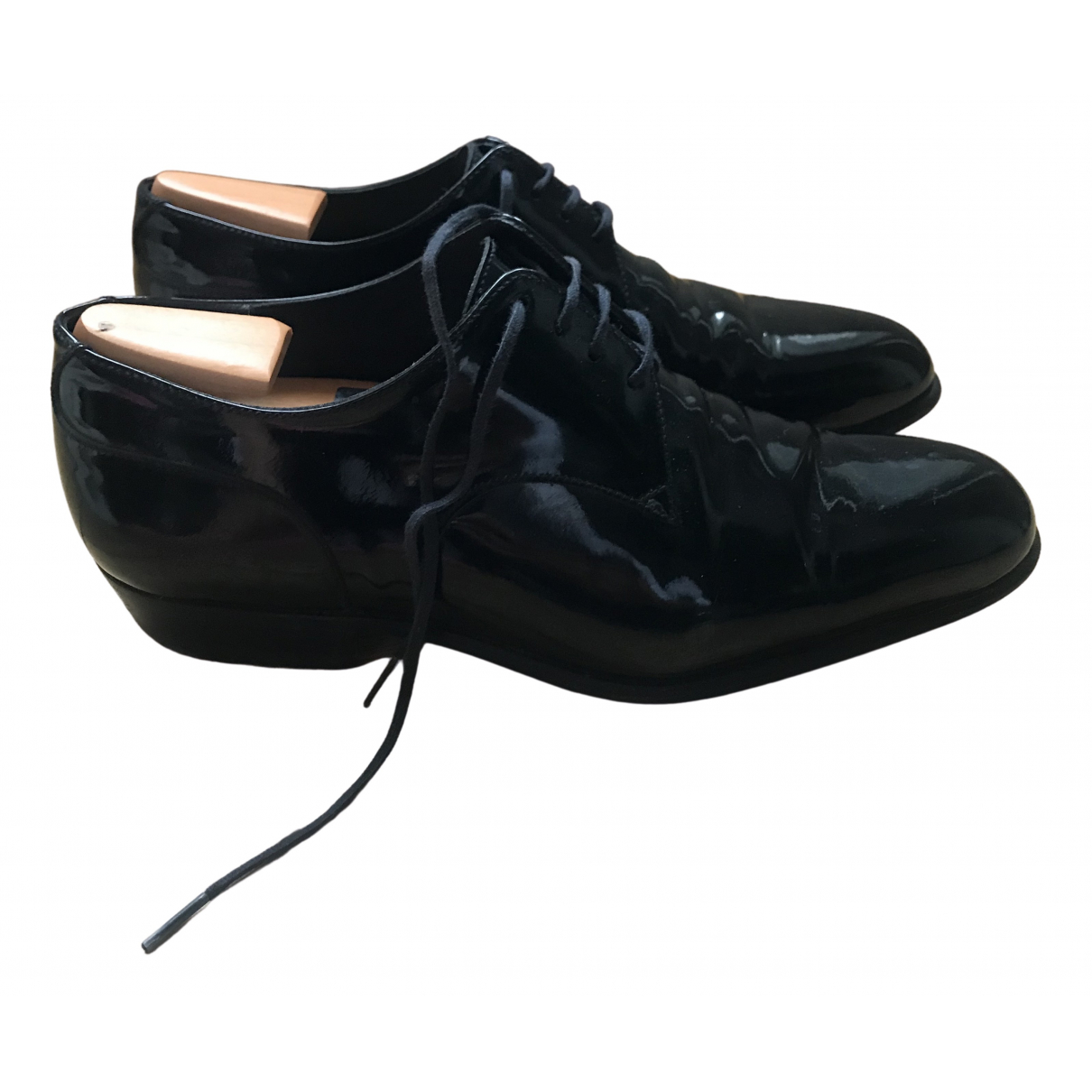 Jm Weston \N Black Patent leather Lace ups for Women 3 UK