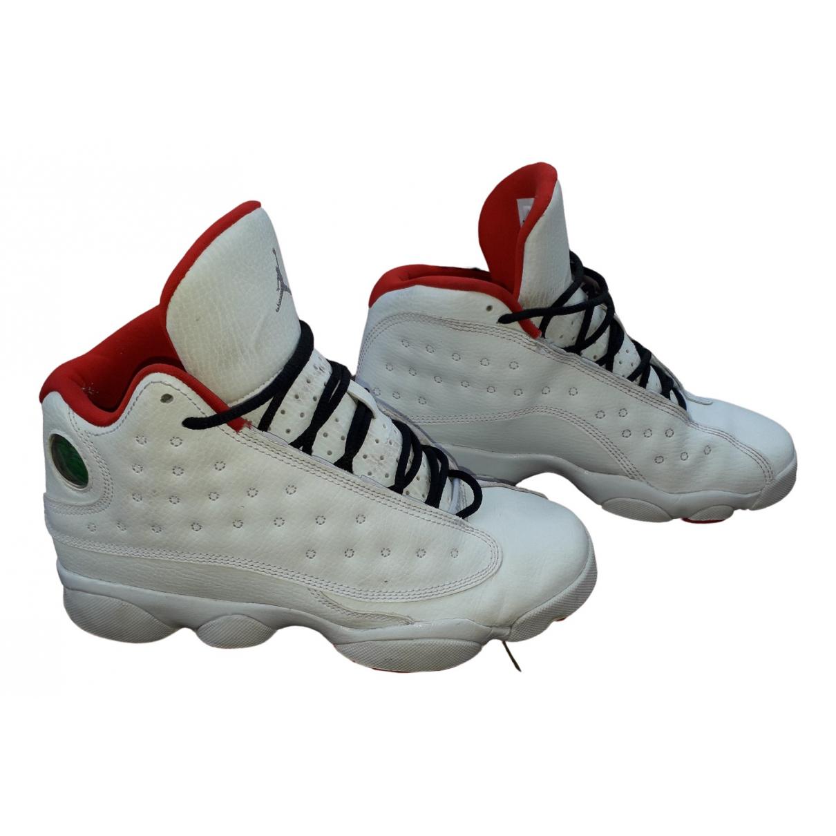 Jordan - Baskets   pour femme en fourrure - blanc