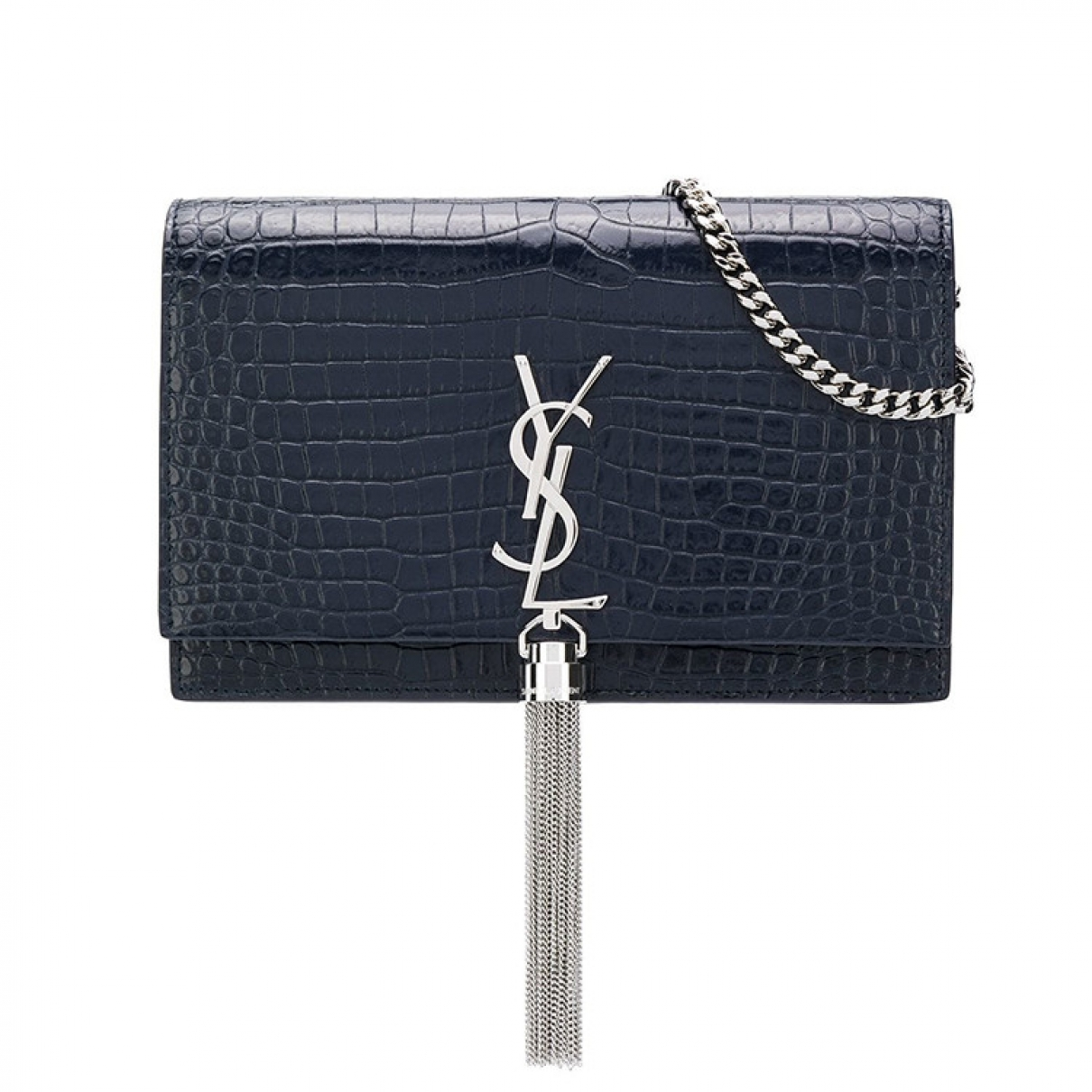 Pochette Pompom Kate de Cuero Saint Laurent